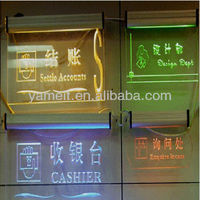 2013Hot Customized Acrylic LED Sign Tag With Screw