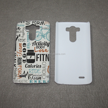 Sublimation blanks Custom 3D sublimation mobile phone case for LG G3 wholesale