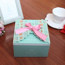 Home made decorative Christmas paper gift box