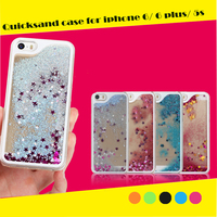 3D Liquid Star Quicksand Hard PC Back Shell liquid phone case for iPhone 6