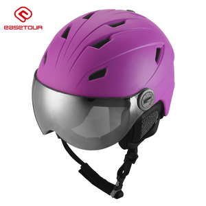 EASETOUR Hot selling ski helmet/ adult ski helmet with goggle lens TSSH301