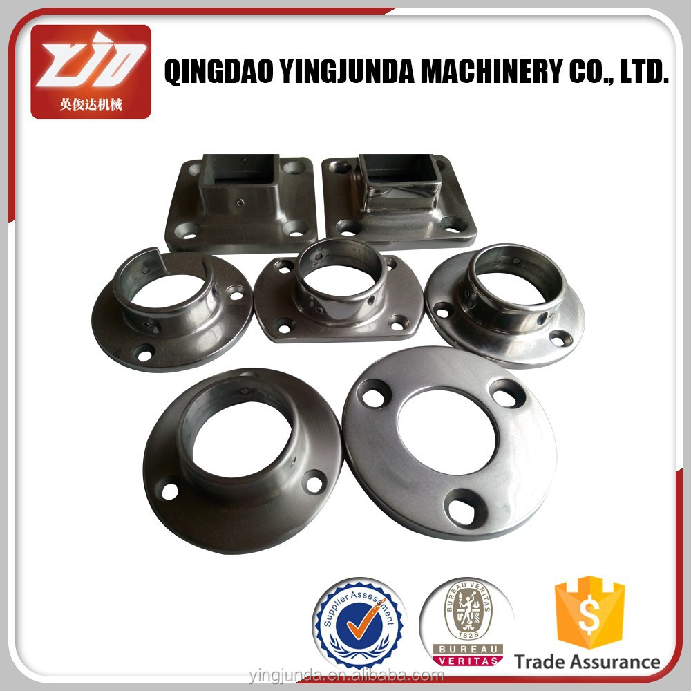 stainless steel handrail base plate manufacturer metal railing steel base plate handrail post base plate