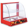 Curved glass food warming showcase . display cabinet BN-660.R