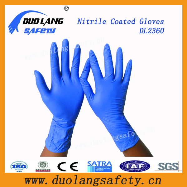 Disposable Power free medical safty nitrile gloves