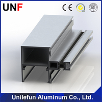 Hot! weight of aluminum section aluminum extrusion profile for curtain wall maker
