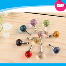 Wholesale Crystal Balls anti dust plug For iphone dust plug