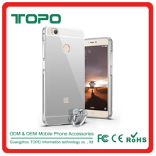 Luxury Aluminum frame Plating mirror Protector good quality cell phone case for xiaomi 4 4s