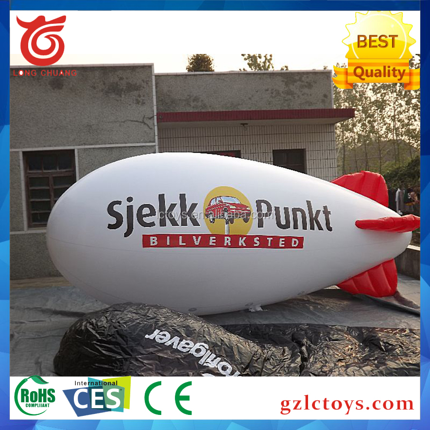 Professional advertising tethered TPU blimp