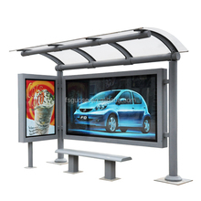 china custom customisation bus station led light box display