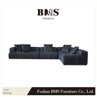 2016 newest design italian modern style sectional sofa leather modern