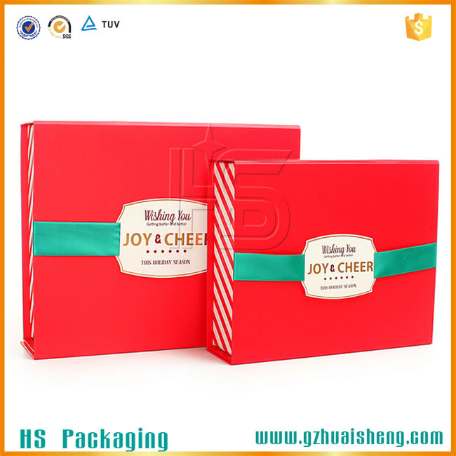 Luxury design foldable cardboard box for clothes packaging