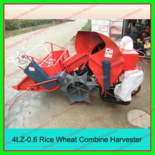 4LZ-0.6 Hand Propelling Electric Starting Small Wheat and Rice Grains Combines Harvesters