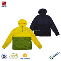 custom men's Lightweight 100% polyester Windbreaker Pullover jacket