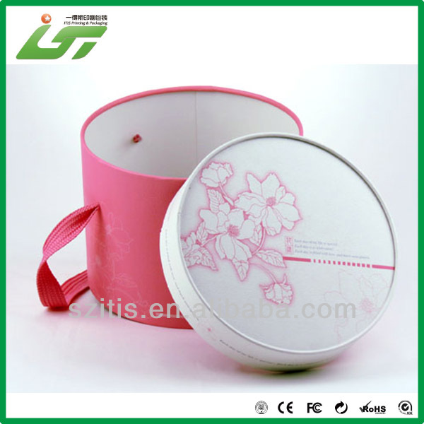 red printing paper tube box with handle