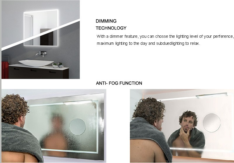 Touch Screen Illuminated Backlit led mirror Bathroom Mirror