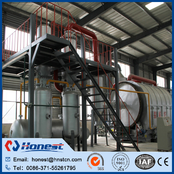 Used tyre pyrolysis plant cost for sale