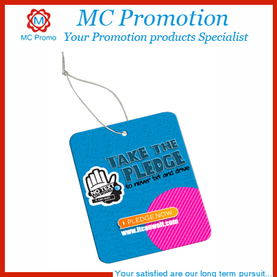 Promotion custom square paper car air freshner