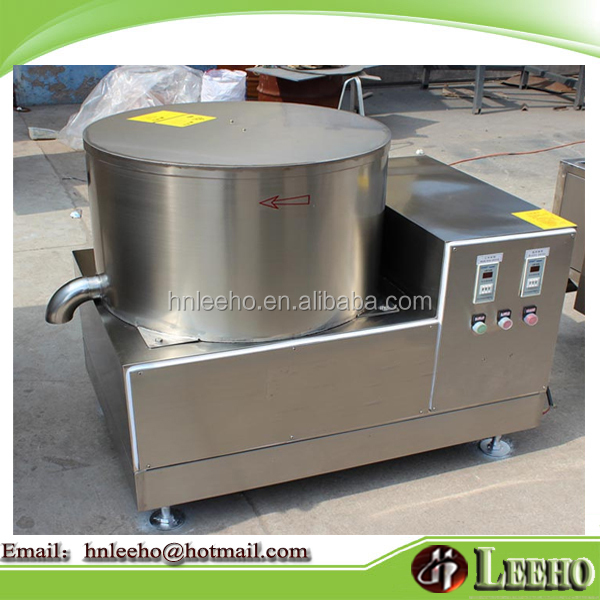 high quality stainless steel fried snack food deoiler equipment