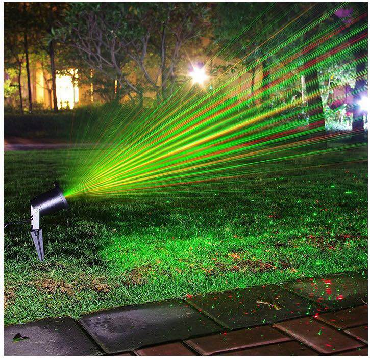 Outdoor Laser Christmas Light Projector,Red And Green Star Laser ...