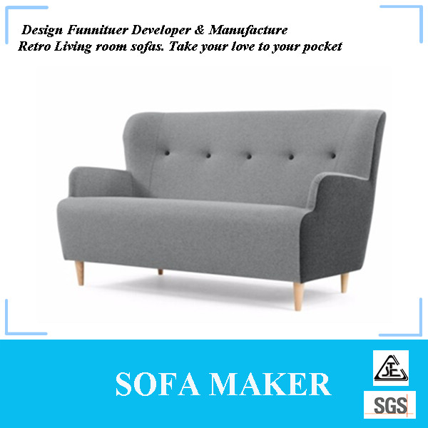 Modern high quality home furniture low arm sofa