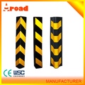 Yellow and black rubber wall guard corner protector