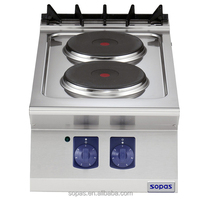 SOPAS 700 Series Commercial Restaurant Kitchen Equipment Stainless steel countertop Electric stove, electric range 2 plates