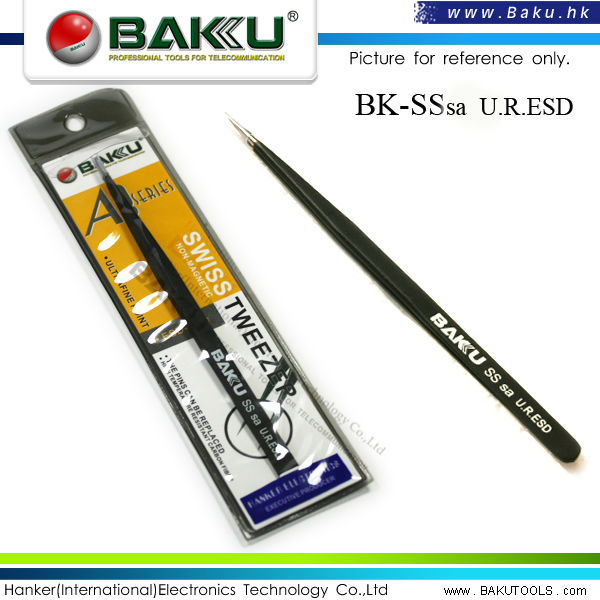 High Temperature Resistant Stainless Steel Advanced Swiss Tweezer (BK-SS-sa ESD)