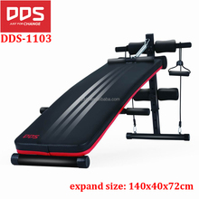 DDS-1103D Durable Quality Indoor Adjustable Abdominal Bench Ab Curved Sit Up Bench For Sale