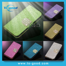 Luxury Glitter Diamond PU Wallet Leather Phone Cases For Iphone 3GS Flip Buckle Stand Card Holder For Iphone 3GS Case Cover