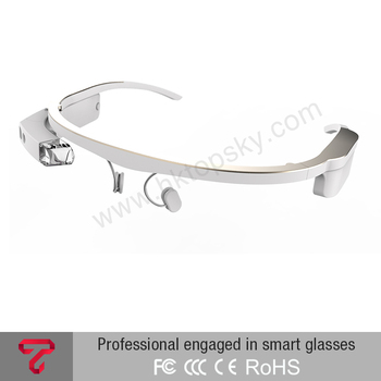 Look-through AR smart video glasses android,Bluetooth /WIFI connection