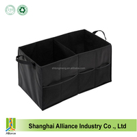 Car Auto Trunk Cargo Organizer Collapsible Bag Storage Black Folding Case New