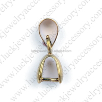 2016 Brass Pinch Bail Platinum Color Plated Pendant Connector Jewellery Accessories