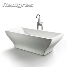 Deep Vertical 1700mm Soild Stone Shower Bathtub