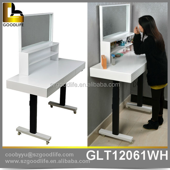 Goodlife design up and down wooden study table designs for for Table up down extensible