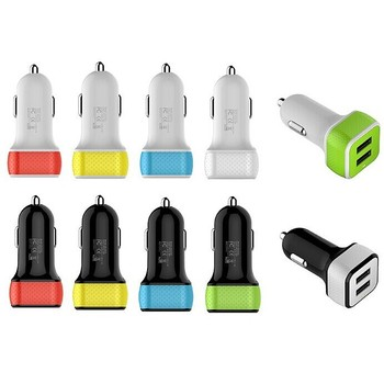 Manufacture MFI 4.8A dual USB phone car charger with Smart Sense IC for samsung iphone