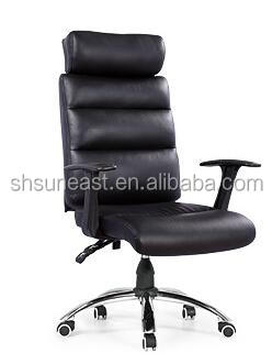 High end style swivel brown office chair with massage function
