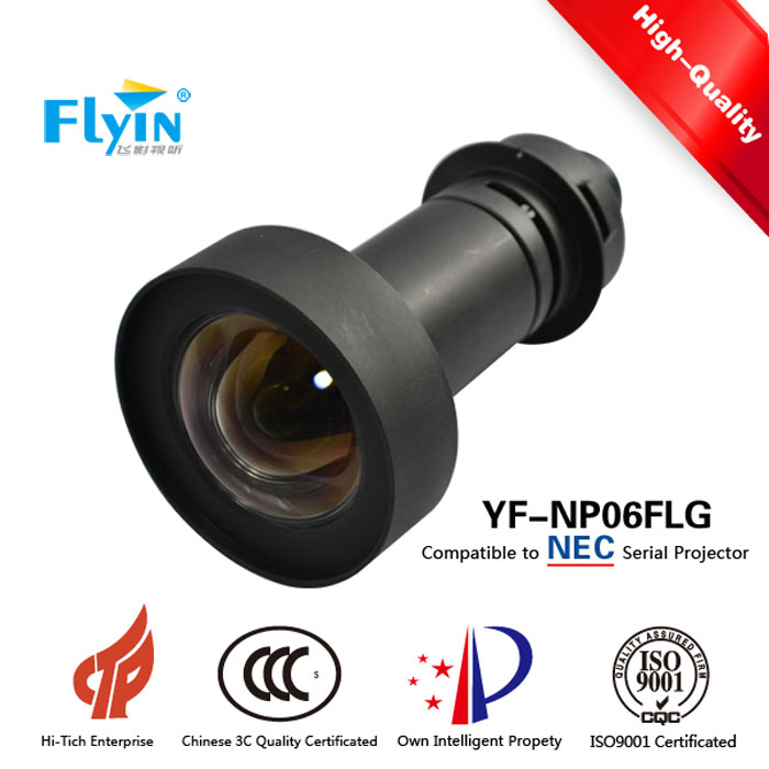 Cylindrical Shaped Lens Compatible 3 DLP 4k for Nec Telecentric Lenses D.W Rate: 0.54:1 Ultra Short throw Projector Lens