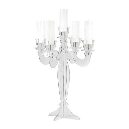 Perfect Clear Acrylic Lucite Candelabra