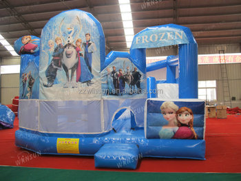 China wholesalers cheap commercial adult Frozen inflatable bouncy castle prices
