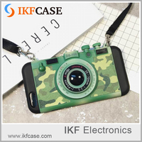 2016 new fashion custom design wholesale silicone tpu pc camouflage camera cell phone case for iPhone 6