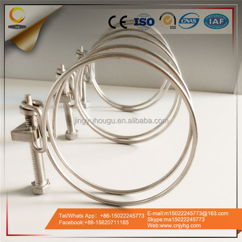 Carbon Steel + Stainless Steel Double Wires Hose/ Rope Clamp