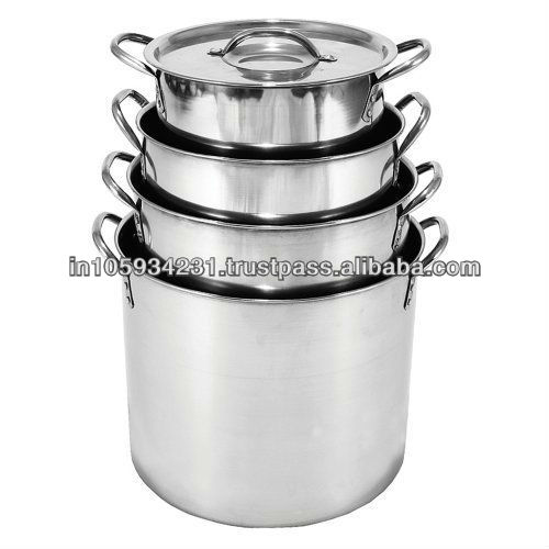 Stainless steel stockpot and cooking pot
