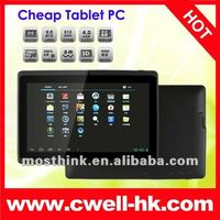 capacitive tablet pc 7'' screen android 4.0 Q88 Allwinner A13