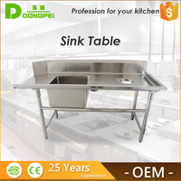 Restaurant Used Equipments Kitchen Utility Stainless Steel Sink Work Table