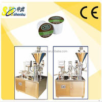 Automatic coffee k cup filling and sealing machine 2 in 1