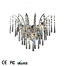 2016 fashion crystal wall light with chandelier decoration