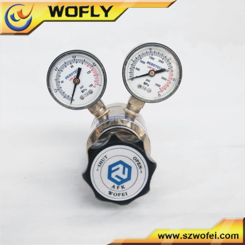 4000 psi hi pressure gas adjustable stainless steel n2 propane pressure regulator