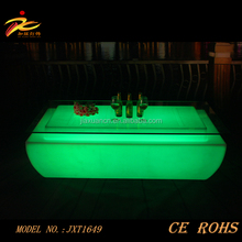 modern design illuminated coffee table/Luminous LED Waterproof serve led bar counter with CE UL ROHS