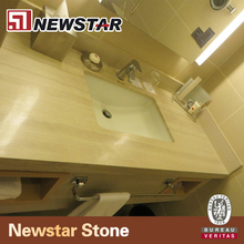 Hotel marble vanity top white wooden bathroom worktops