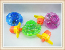Plastic Wind up spinning top toy